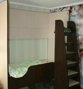 Кровать-чердак, 2 в 1