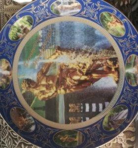 Декоративные тарелки с городами