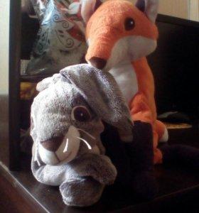 Заяц и лиса IKEA