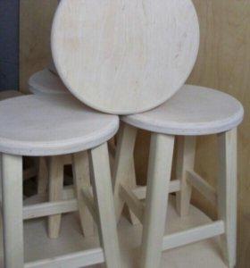 Табуретки круглые для кухни, дома, комплект 4 шт.