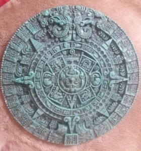 Пано настенная тарелка календарь ацтеков