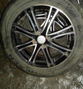 Литье с шинами джели кросс R16