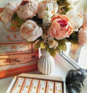 Букет, цветы искусственные, пионы