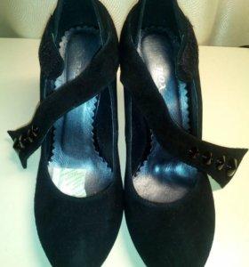 Туфли бархатные черные
