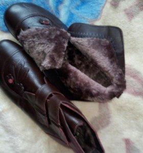 Ботинки зимнии из натуральной кожи
