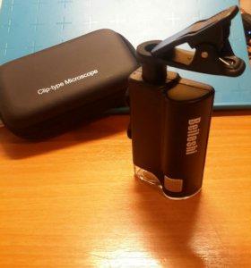Микроскоп на телефон с подсветкой