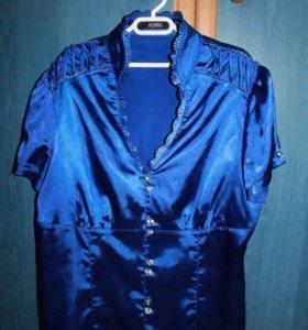Блузка атласная 44-46 р-р