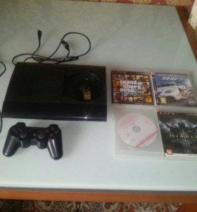 PS3 супер слим 500 гб вместе с аккаунтом PN