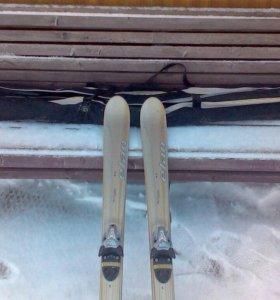 """Горные лыжи""""ELAN""""и ботинок""""Salomon""""и""""Nordica"""""""