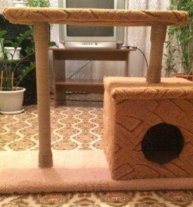 Домик для Кошки с когтеточками и лежанками 😸