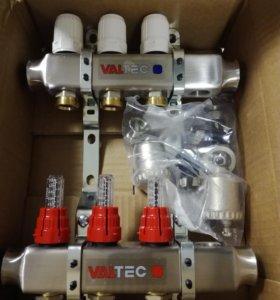 Блок коллекторный VALTEC на 3 выхода