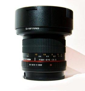 Объектив Samyang MF 8mm f/3.5 Fisheye Sony A