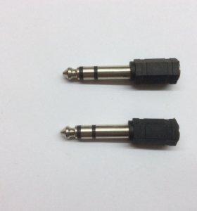 Переходник аудио 3.5 Мм на 6.3 мм