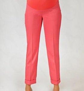 Стильные бежевые брюки для беременных 46 р