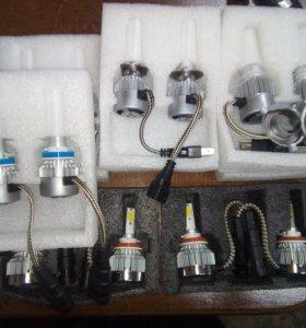 Авто Светодиодные Лэд лампы H1,H4,H7,h11и другие.