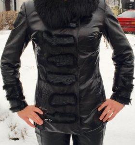 Куртка зимняя натуральная кожа/мех