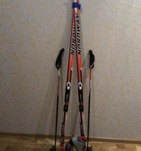 Лыжи (лыжные палки + ботинки)