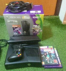 Xbox 360 Slim, 250 Gb, Kinect, freeboot