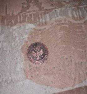 Монета 1 копейка 1904 года