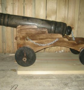 Декоративная пушка из массива сосны