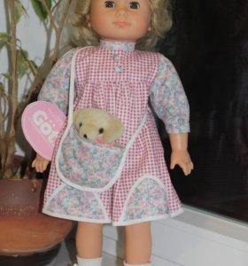 Кукла с мишкой Gotz (Готц) 45 см новая винтажная