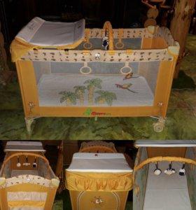 Кровать- манеж Jetem C2 с матрасом