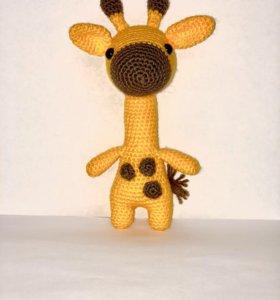 Амигуруми, Жираф, игрушка, ручная работа
