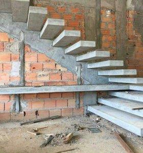 монолитные работы; лестницы;фундаменты;перекрытия