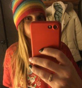 шапка цветная