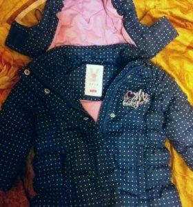 Две курточки SELA осень 6-12мес.