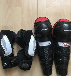 Хоккейная защита колени и локти