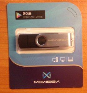 NEW Флэшка MOWEEK USB 2.0 8GB