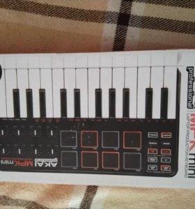 Akai mpk mini, Миди клавиатура, midi keyboard.