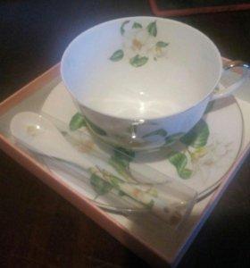 Чайный набор с ложечкой.