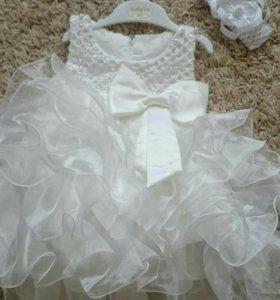 Праздничное платье, повязка