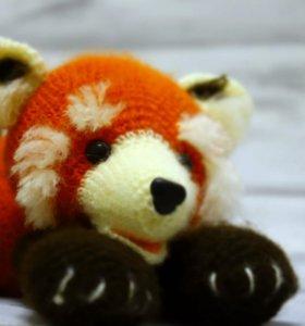 """Вязанная малышка """"Рыжая панда"""""""
