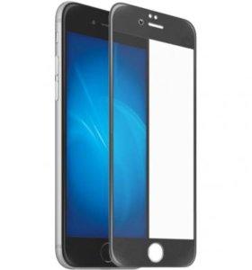 Защитное стекло, iPhone 6 черный 6D glass