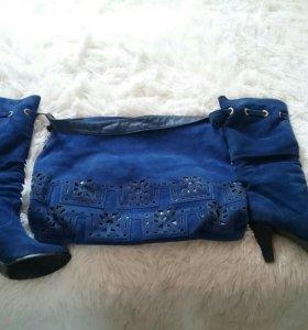 Сапоги зимние и сумка