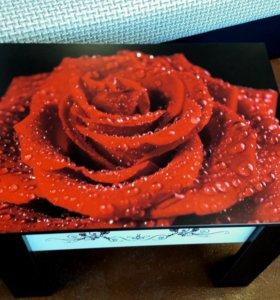 Стол чайный 11(розы)