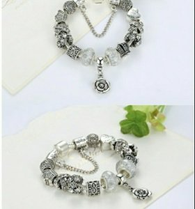 Женский браслет винтажный серебряный (новый)