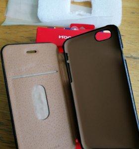 Чехол на 6 iPhone нат. кожа