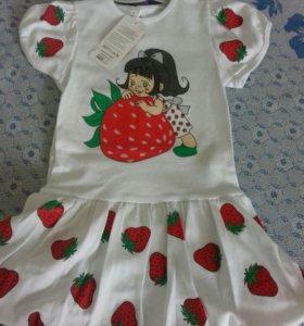 Платье трикотажное для девочек от1 до 3лет