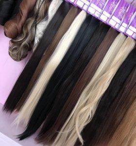 Волос искусственный, накладные пряди