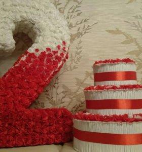 Объёмная циферка и тортик на день рождения.