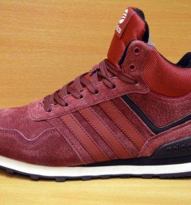 Новые Adidas зимние кроссовки ботинки с мехом
