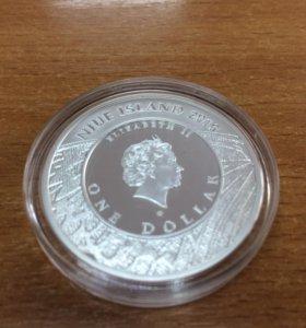 Монета ONE DOLLAR NIUE ISLAND