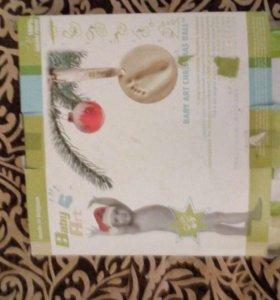 Детский слепок новогодняя игрушка. Baby art