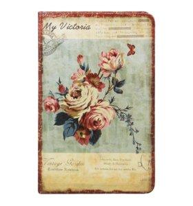 Блокнот винтажный в цветах на 8 марта