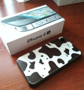 Коробка от iPhone 4s и бампер на iPhone 4s