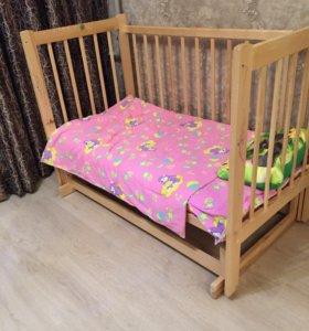 Детская кроватка матрас